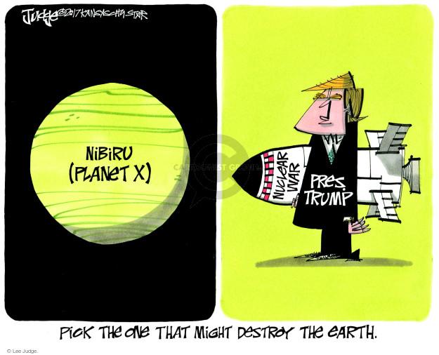 Lee Judge  Lee Judge's Editorial Cartoons 2017-11-21 Donald Trump