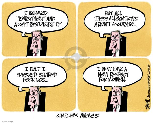 Lee Judge  Lee Judge's Editorial Cartoons 2017-11-22 political media