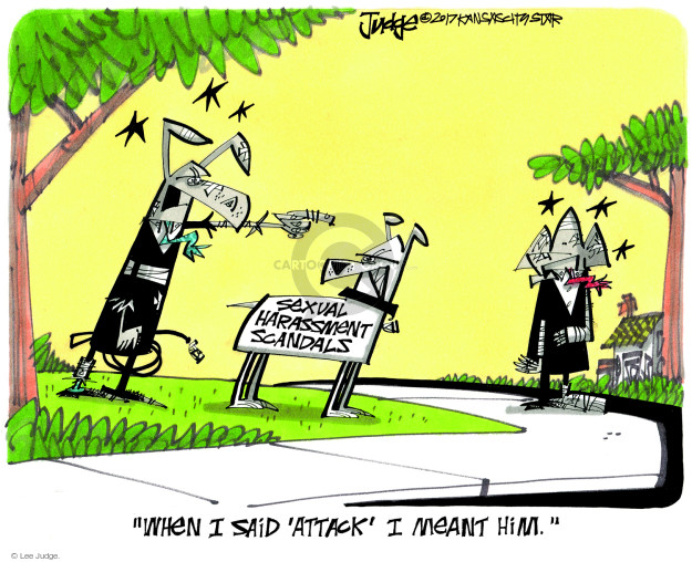 Cartoonist Lee Judge  Lee Judge's Editorial Cartoons 2017-11-26 charge