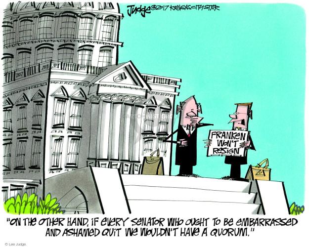 Cartoonist Lee Judge  Lee Judge's Editorial Cartoons 2017-11-28 charge