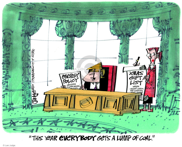 Cartoonist Lee Judge  Lee Judge's Editorial Cartoons 2017-11-29 politics