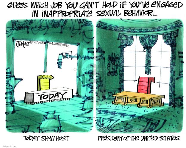 Lee Judge  Lee Judge's Editorial Cartoons 2017-12-01 inappropriate