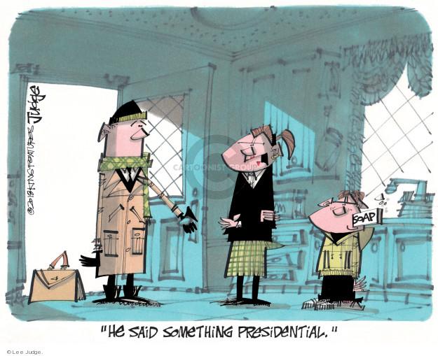 Lee Judge  Lee Judge's Editorial Cartoons 2018-01-15 Donald Trump