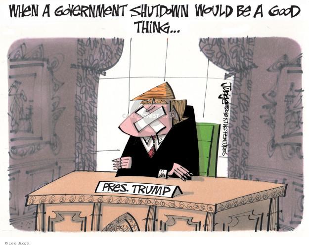 Lee Judge  Lee Judge's Editorial Cartoons 2018-01-17 Donald Trump