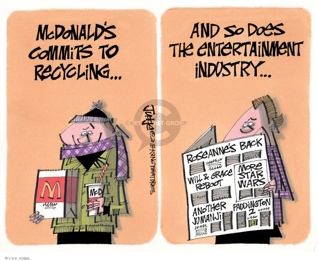 Lee Judge  Lee Judge's Editorial Cartoons 2018-01-19 recycle