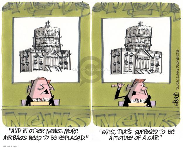 Cartoonist Lee Judge  Lee Judge's Editorial Cartoons 2018-01-20 editorial