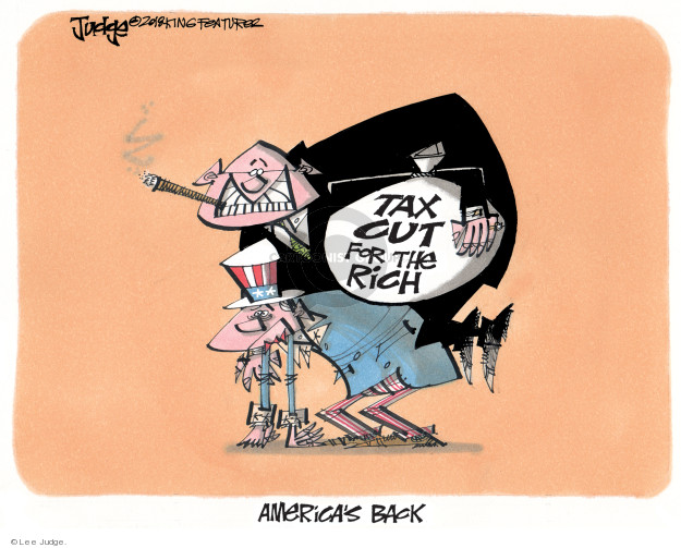 Tax cut for the rich. Americas back.
