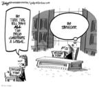 Cartoonist Lee Judge  Lee Judge's Editorial Cartoons 2009-09-04 illegal