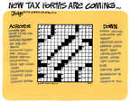 Cartoonist Lee Judge  Lee Judge's Editorial Cartoons 2014-09-05 tax preparation