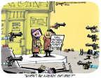 Cartoonist Lee Judge  Lee Judge's Editorial Cartoons 2014-12-26 violent
