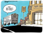 Cartoonist Lee Judge  Lee Judge's Editorial Cartoons 2016-10-28 2016 election