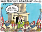 Cartoonist Lee Judge  Lee Judge's Editorial Cartoons 2017-10-25 Donald Trump