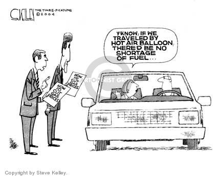 Cartoonist Steve Kelley  Steve Kelley's Editorial Cartoons 2004-04-01 automobile energy