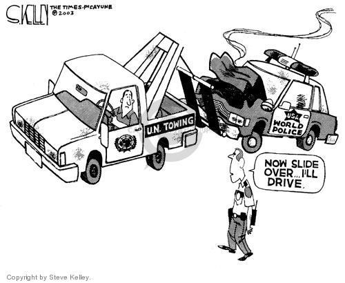 Steve Kelley  Steve Kelley's Editorial Cartoons 2003-09-09 policeman