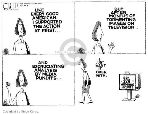 Cartoonist Steve Kelley  Steve Kelley's Editorial Cartoons 2003-09-11 analysis