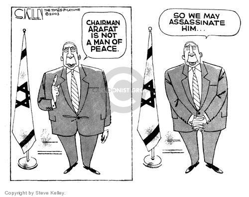Steve Kelley  Steve Kelley's Editorial Cartoons 2003-09-16 Israel