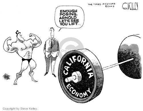 Cartoonist Steve Kelley  Steve Kelley's Editorial Cartoons 2003-10-09 recall election