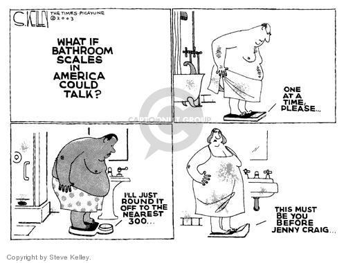 Steve Kelley  Steve Kelley's Editorial Cartoons 2003-10-15 Jenny Craig