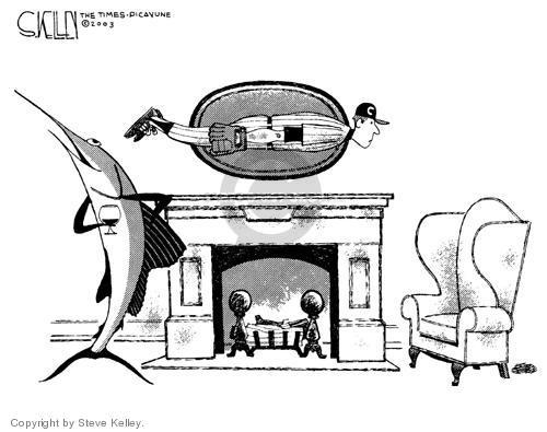 Cartoonist Steve Kelley  Steve Kelley's Editorial Cartoons 2003-10-17 athlete