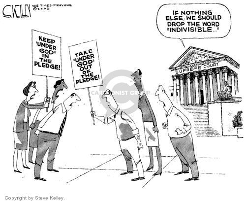 Cartoonist Steve Kelley  Steve Kelley's Editorial Cartoons 2003-10-21 debate