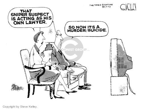 Steve Kelley  Steve Kelley's Editorial Cartoons 2003-10-22 suicide