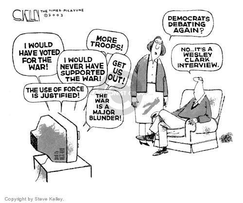 Cartoonist Steve Kelley  Steve Kelley's Editorial Cartoons 2003-10-28 flip