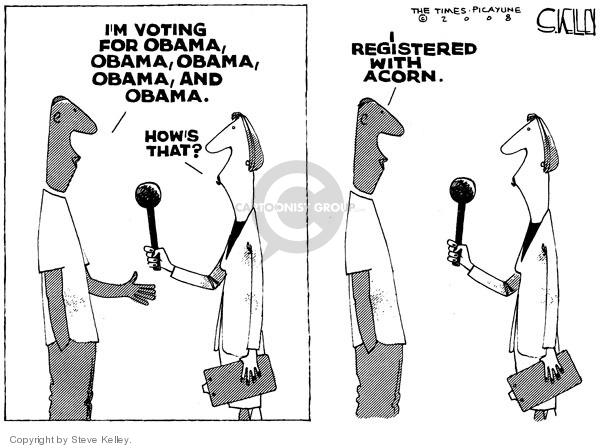 Cartoonist Steve Kelley  Steve Kelley's Editorial Cartoons 2008-10-17 2008 election