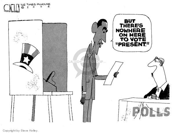 Cartoonist Steve Kelley  Steve Kelley's Editorial Cartoons 2008-11-02 2008 election