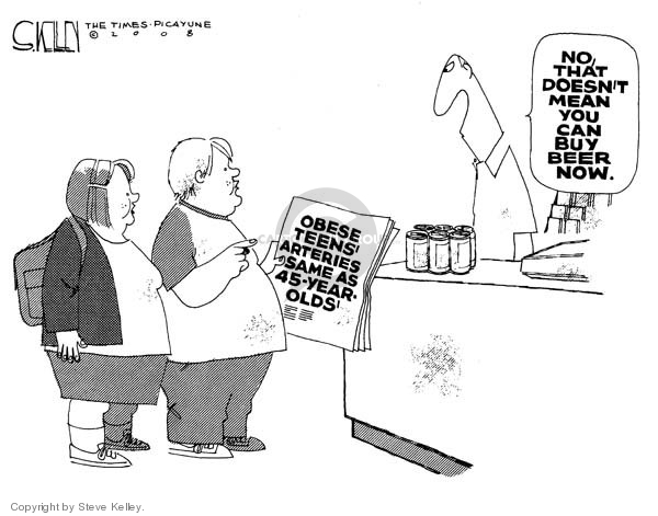 Cartoonist Steve Kelley  Steve Kelley's Editorial Cartoons 2008-11-13 weight
