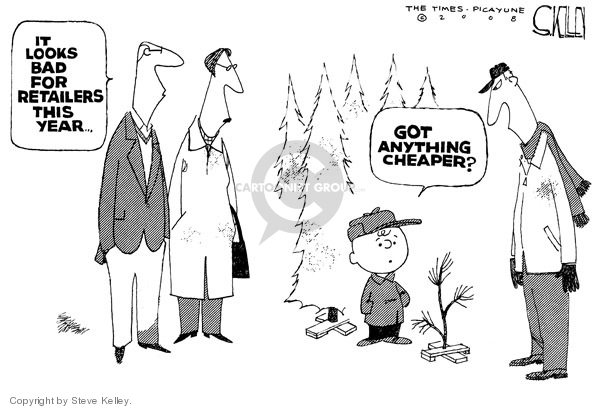 Steve Kelley  Steve Kelley's Editorial Cartoons 2008-11-25 Christmas shopping