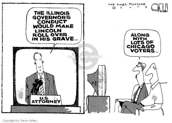 Steve Kelley  Steve Kelley's Editorial Cartoons 2008-12-10 corruption