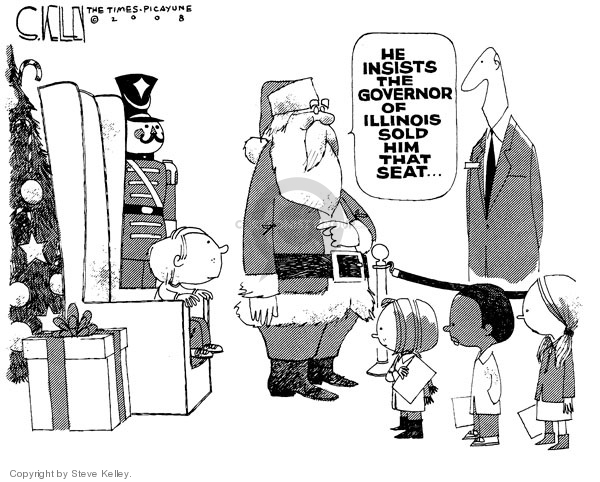Cartoonist Steve Kelley  Steve Kelley's Editorial Cartoons 2008-12-11 claus