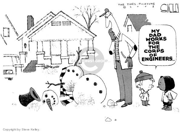 Steve Kelley  Steve Kelley's Editorial Cartoons 2008-12-12 water