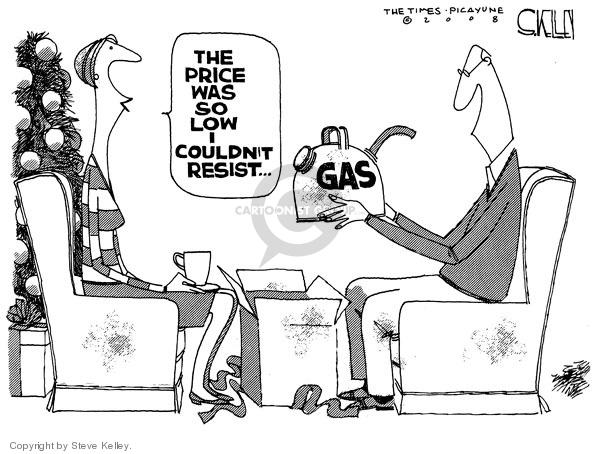 Cartoonist Steve Kelley  Steve Kelley's Editorial Cartoons 2008-12-23 recession