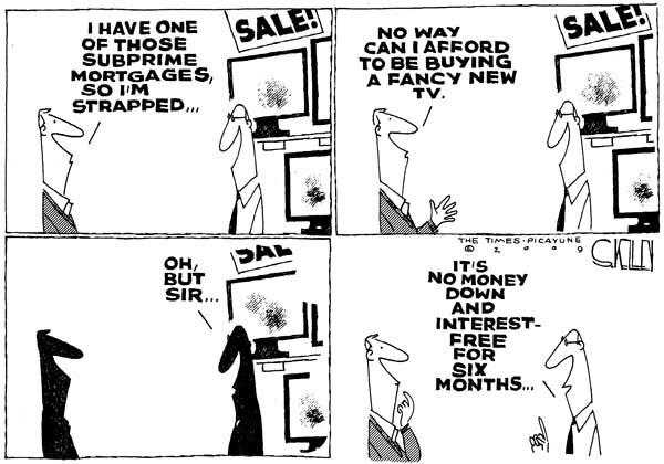 Steve Kelley  Steve Kelley's Editorial Cartoons 2009-01-04 economy