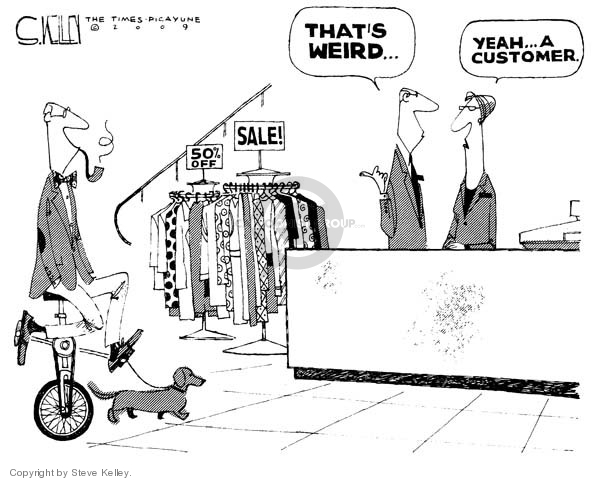 Steve Kelley  Steve Kelley's Editorial Cartoons 2009-01-14 economy