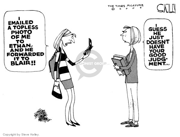 Cartoonist Steve Kelley  Steve Kelley's Editorial Cartoons 2009-01-15 cellular