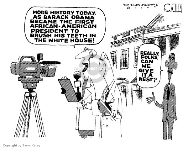 Cartoonist Steve Kelley  Steve Kelley's Editorial Cartoons 2009-01-22 2008 election