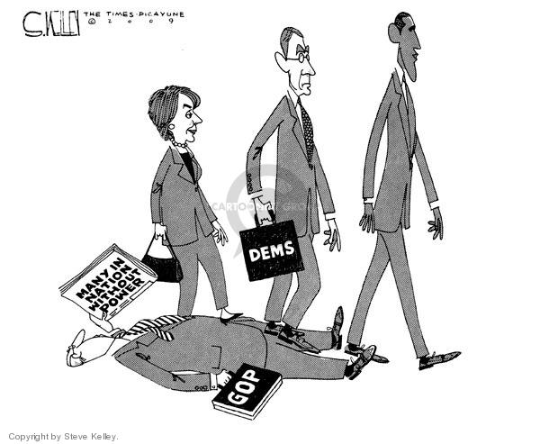 Steve Kelley  Steve Kelley's Editorial Cartoons 2009-01-29 GOP
