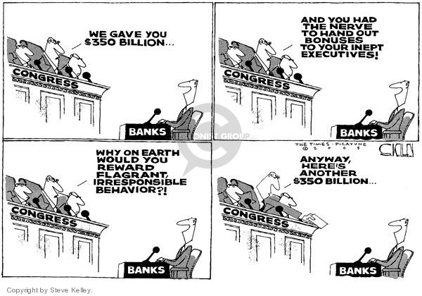 Steve Kelley  Steve Kelley's Editorial Cartoons 2009-02-12 bad behavior