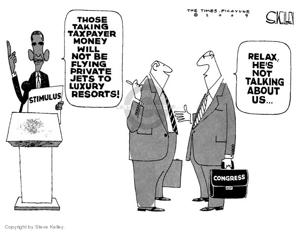 Cartoonist Steve Kelley  Steve Kelley's Editorial Cartoons 2009-02-13 recession
