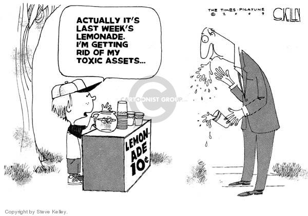Steve Kelley  Steve Kelley's Editorial Cartoons 2009-03-24 economy