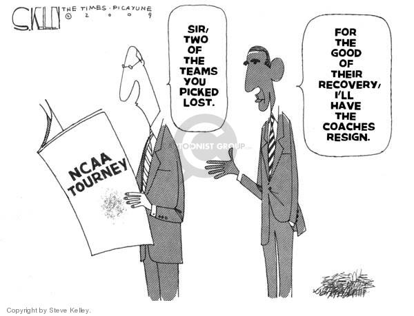 Cartoonist Steve Kelley  Steve Kelley's Editorial Cartoons 2009-04-01 sir