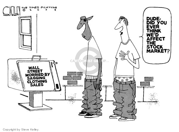 Steve Kelley  Steve Kelley's Editorial Cartoons 2009-04-16 stock market
