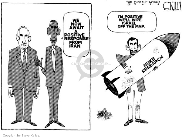 Steve Kelley  Steve Kelley's Editorial Cartoons 2009-05-19 bomb