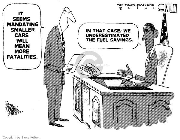 Cartoonist Steve Kelley  Steve Kelley's Editorial Cartoons 2009-05-21 regulation
