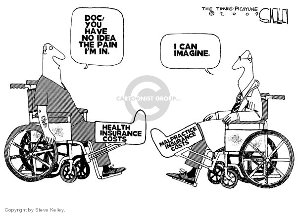 Cartoonist Steve Kelley  Steve Kelley's Editorial Cartoons 2009-07-24 care