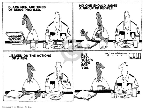 Steve Kelley  Steve Kelley's Editorial Cartoons 2009-07-27 racism