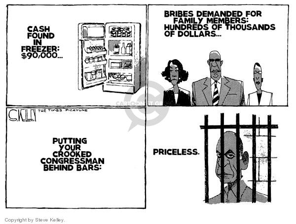 Cartoonist Steve Kelley  Steve Kelley's Editorial Cartoons 2009-08-06 corruption
