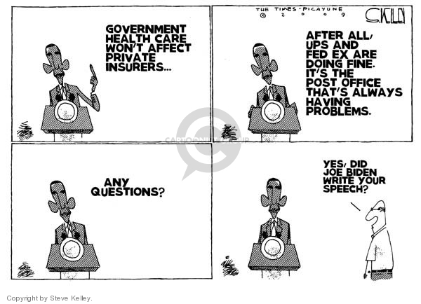 Steve Kelley  Steve Kelley's Editorial Cartoons 2009-08-12 Joe Biden